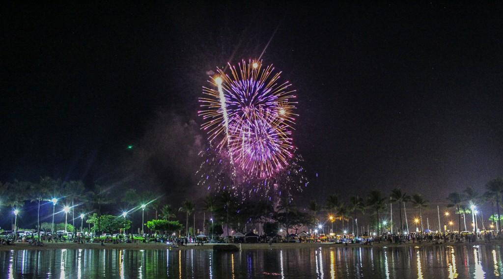Fireworks Hilton Hawaiian Village   AGlobalStroll.com