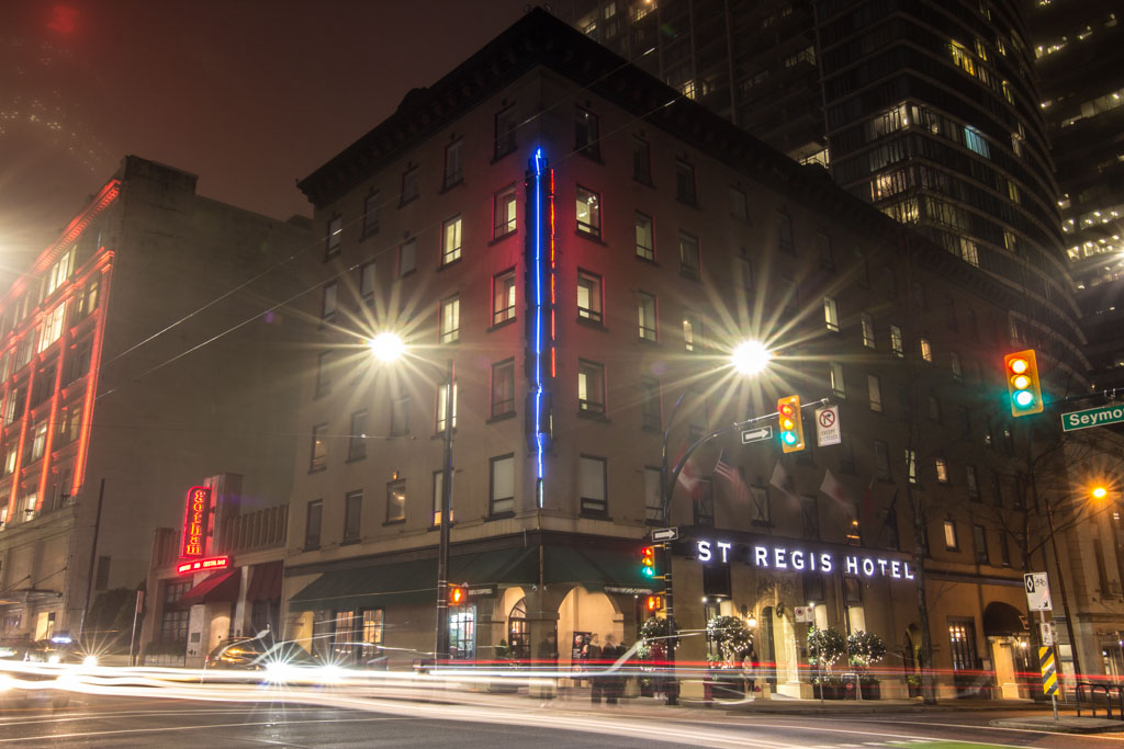 The st regis hotel in vancouver our first boutique for Best boutique hotels vancouver bc
