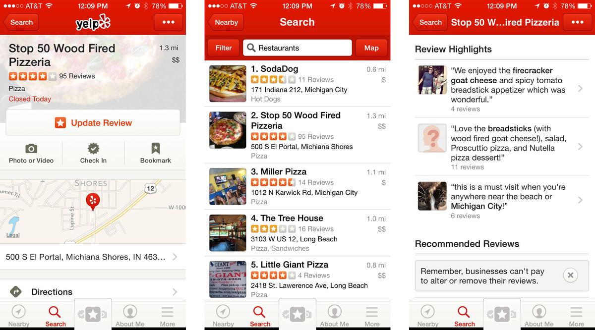 Yelp App Screenshot