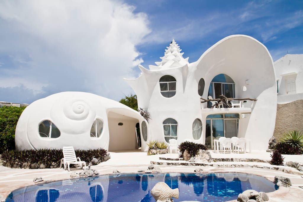 Weird Airbnb Seashell House Mexico