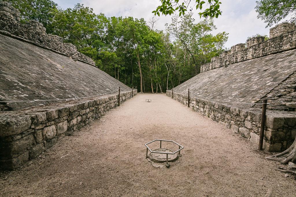 Mayan Basketball Court Mexico