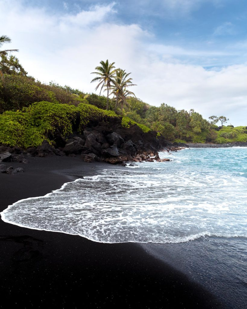 Black Sand Beach Hana Maui