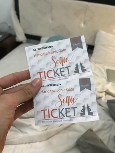 Handara Golf Course Selfie Ticket