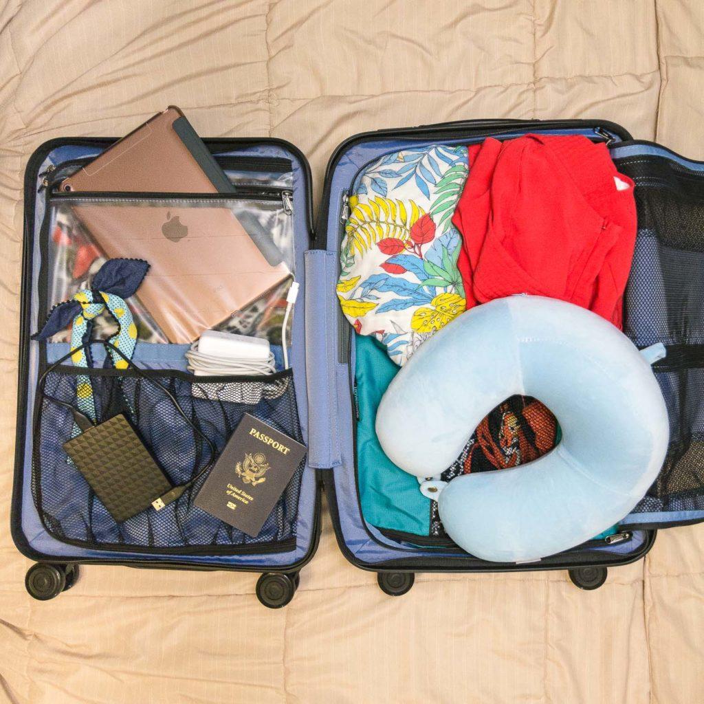 luggage flatlay