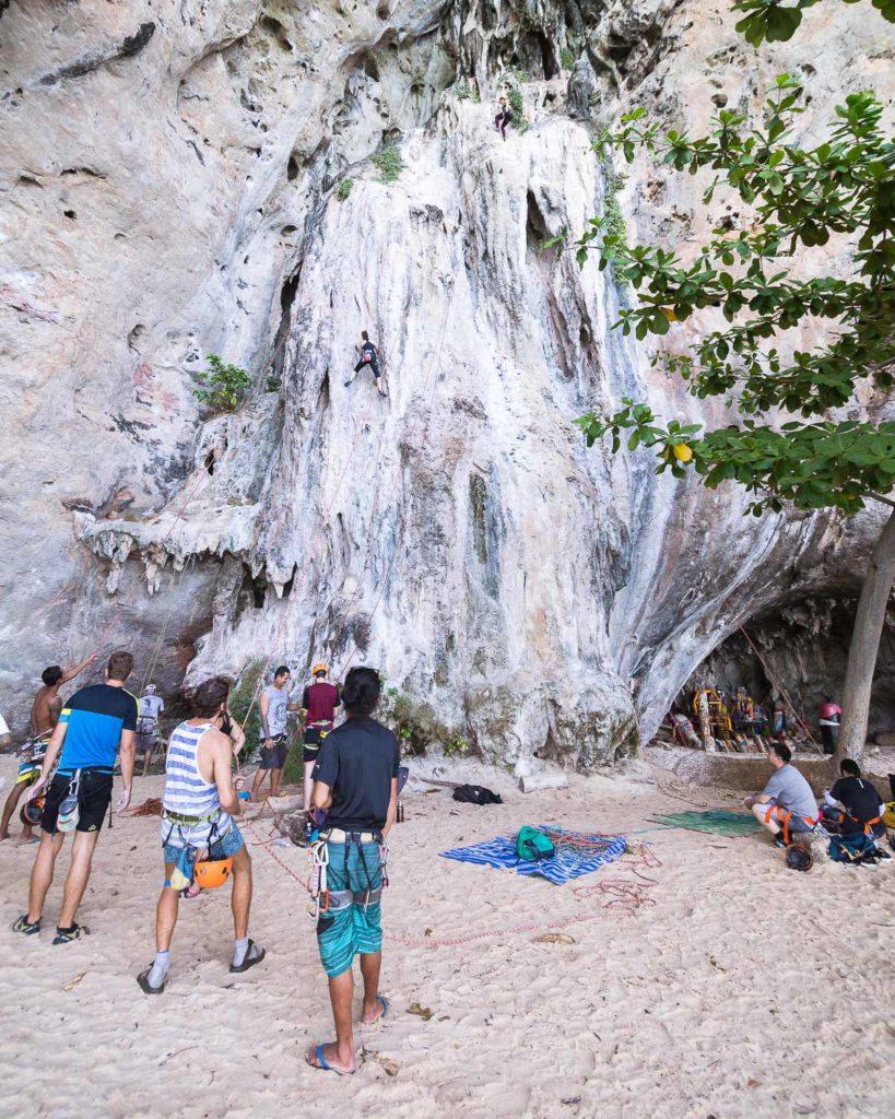 Railay Rock Climbing Thailand