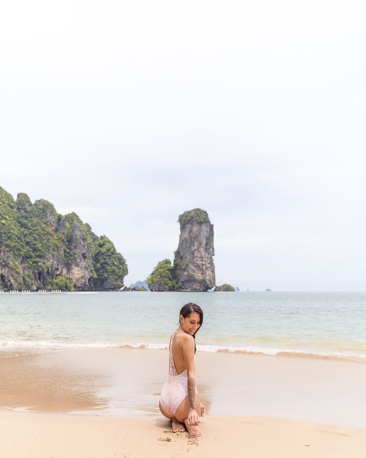 Pai Plong Beach Monkey Trail On Ao Nang Krabi Thailand